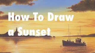 How To Draw a Sunset with 6 Pencils