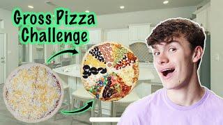 GROSS 🍕PIZZA 🍕Challenge!! Boys Vs. Girls DISGUSTING Pizza SLICE ROULETTE!! Sis Vs. Bro