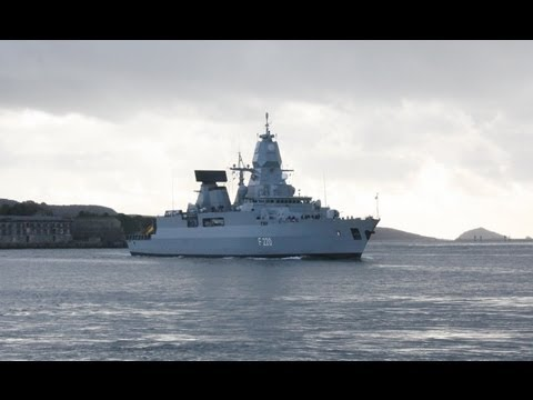 German warship Hamburg, Mount Wise, Plymouth