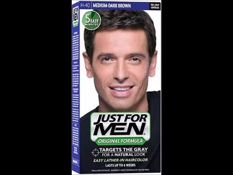 Just For Men Shampoo In Hair Color Medium Dark Brown - YouTube