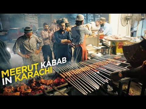 Ramzan Special | Meerut Kabab House | Ramadan Night in Karachi | Pakistani Street Food