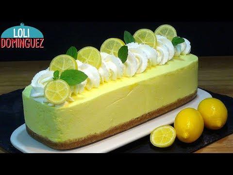 Tarta De Limón Sin Horno, Fácil Y Rápida - Recetas Paso A Paso, Tutorial - Loli Domínguez