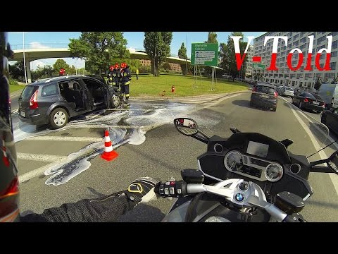 A terrible day for this driver - onboard BMW K 1600 GTL