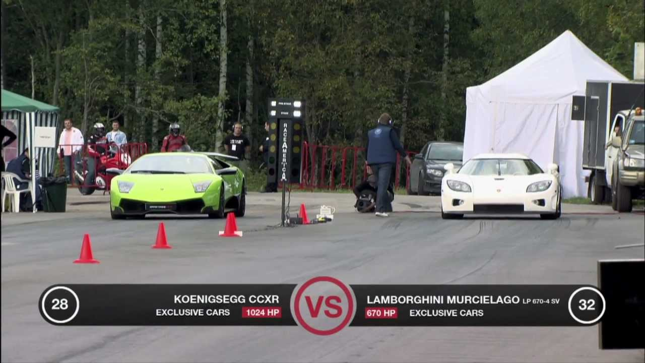 Lamborghini LP670-4 SV vs Koenigsegg CCXR - YouTube