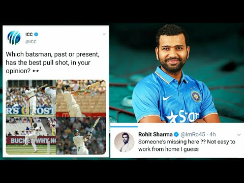 ICC Ask Questions Who's Play The Best Pull Shot? Rohit Sharma Gives Answer #rohitsharma #icc