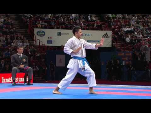 Ryo Kiyuna vs Farid Haghighi. Bronze Male Individual Kata. WKF World Karate Championships 2012