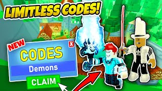 LIMITLESS RPG CODES - Roblox