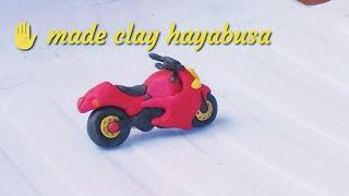 How to make clay bike , motorcycle || How to make hayabusa bike