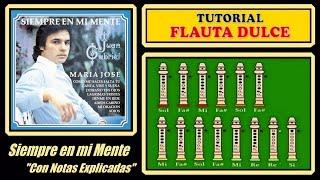 Juan Gabriel - Siempre en mi Mente en Flauta Dulce