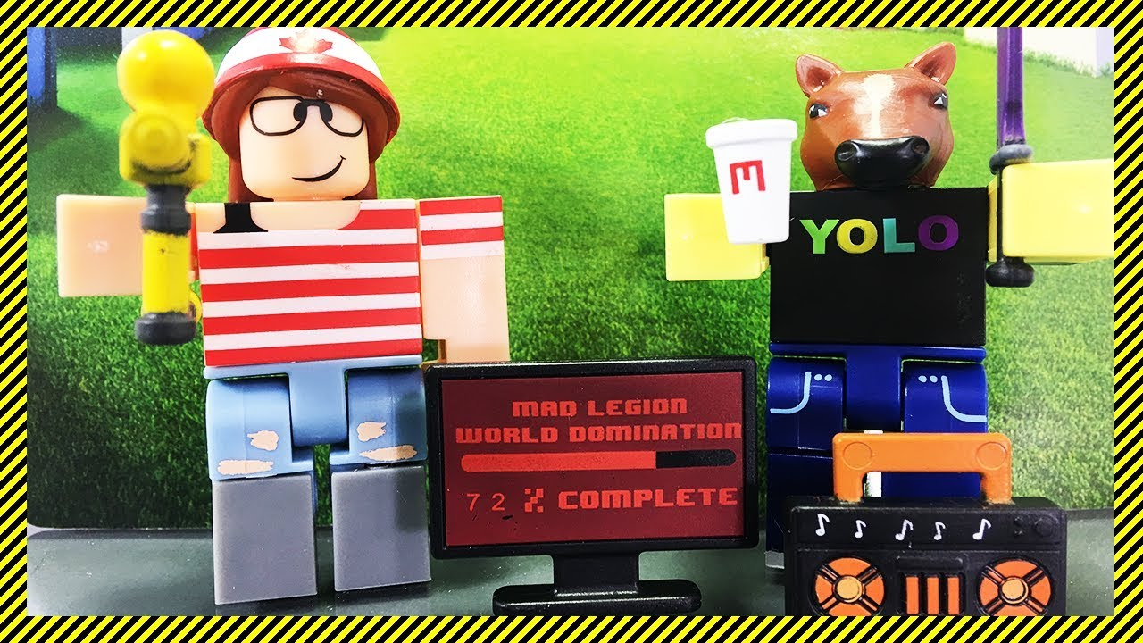 Roblox Mad Studio Mad Studio Mad Pack Roblox Toy Unboxing Action Series 2 Game Pack Youtube