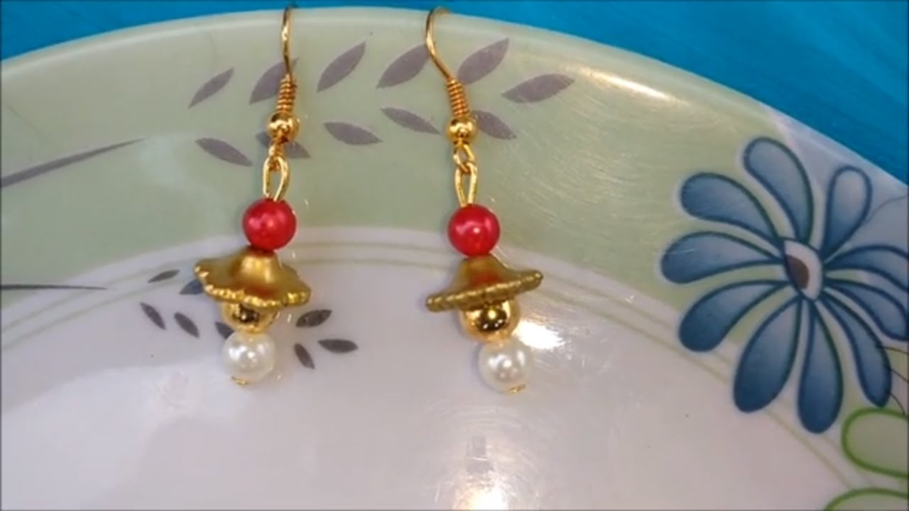 Pictures of earrings to make at home.