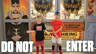 We Are Not Allowed In The Spirit Halloween Store!