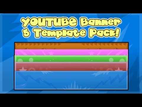 Free YOUTUBE Banner Templates! 5 Pack!