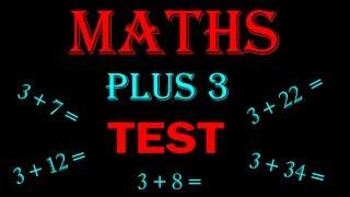 maths online - math for kids Plus 3 TEST
