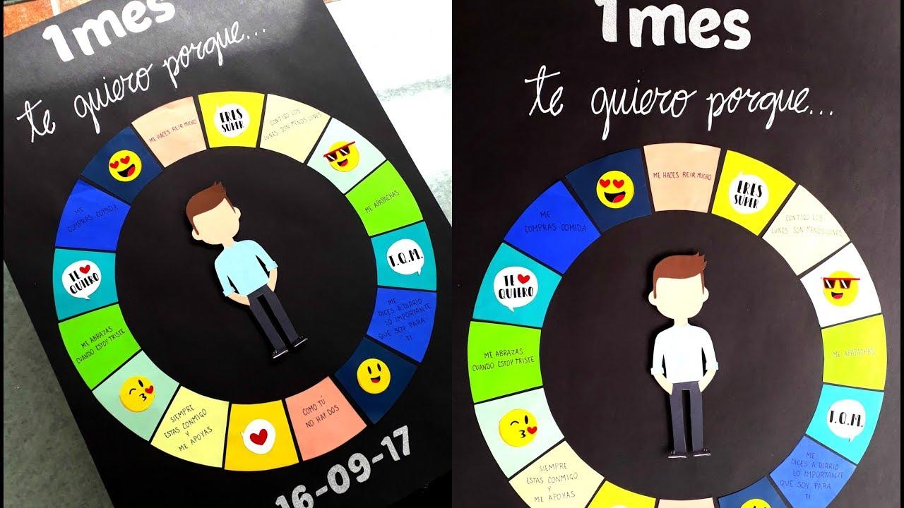 Diy Detalle De 1 Mes Para Mi Novio Infografia De Amor Te Quiero Porque