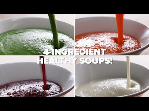Budget-Friendly 4-Ingredient Veggie Soups