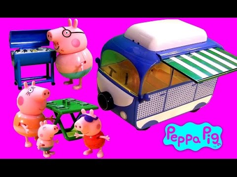 Play Doh Peppa Pig Holiday Campervan Picnic with Mommy