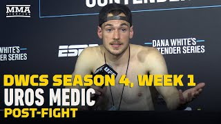 DWCS Season 4, Week 1: Uros Medic Post-Fight Press Conference - MMA Fighting