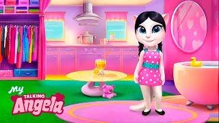ТОМ И АНДЖЕЛА #18 ГОВОРЯЩИЙ ТОМ И ДРУЗЬЯ ИГРЫ КОШКА АНДЖЕЛА - мультик игра видео для детей