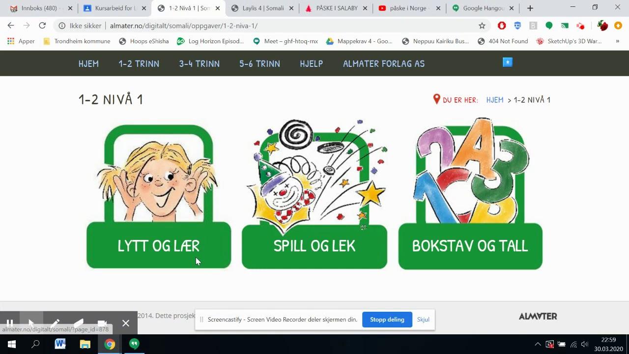 Digitale ressurser for hjemmeskole/Dhijitaalka loogu talagalay barashada Mar 30, 2020 11:13 PM