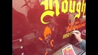 Fire Truck Lettering Restoration