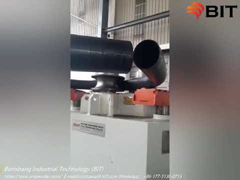 Profile bending machine for bending steel pipes