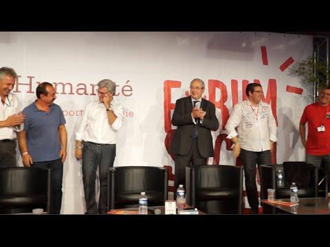Philippe Martinez et Patrick Le Hyaric au Forum social de la Fête de l'Humanité