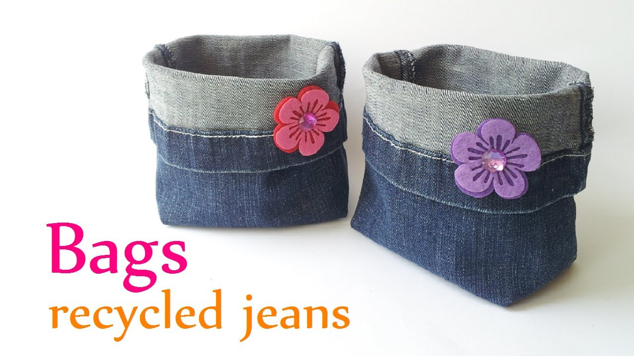 Diy crafts bags recycled jeans very easy innova crafts youtube solutioingenieria Images