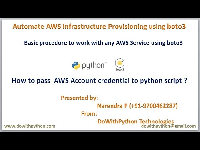 Basic steps to work with AWS services using boto3