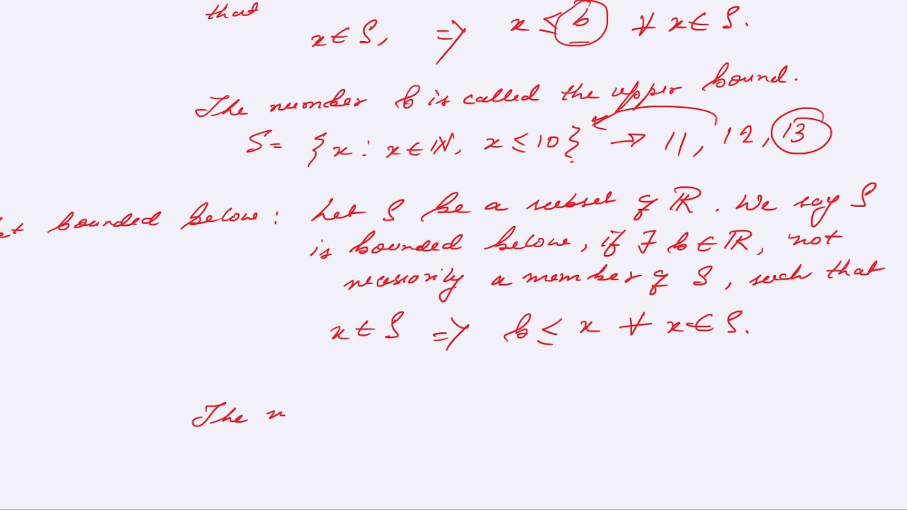 REAL ANALYSIS BOUNDED SETS books notes coaching preparation tricks solved  papers online test tuition
