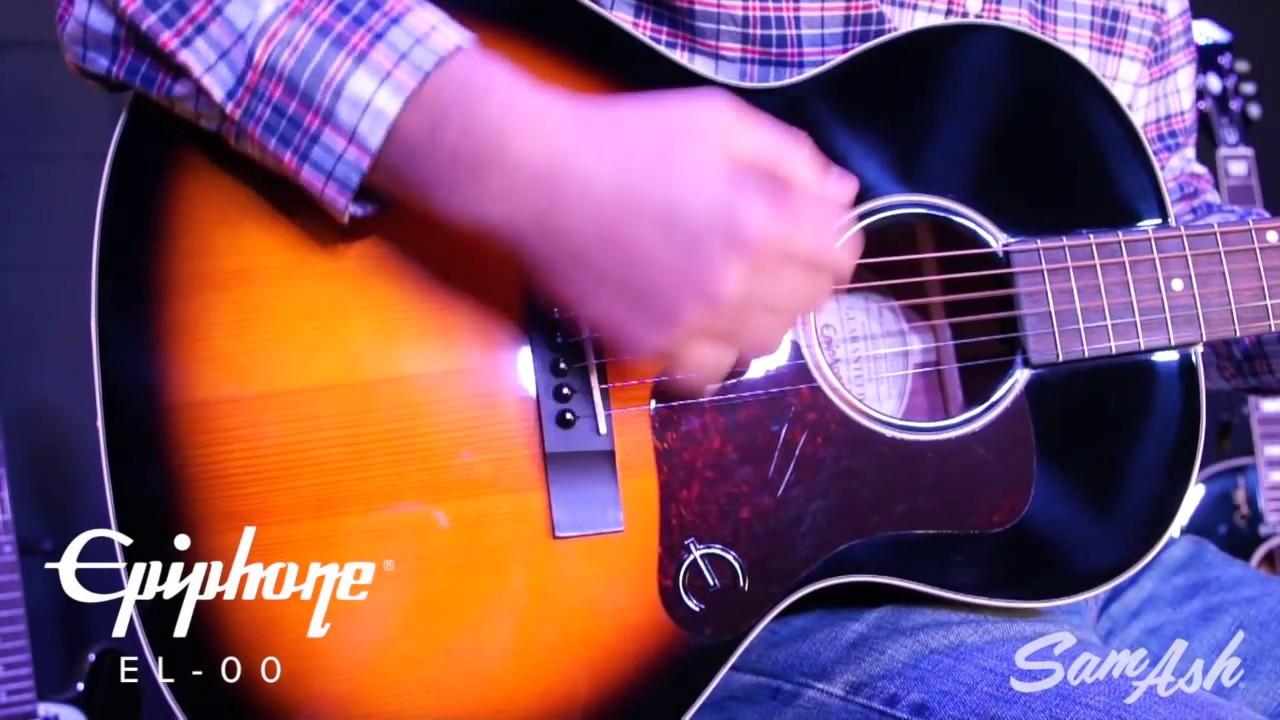 epiphone el 00 acoustic guitar overview youtube. Black Bedroom Furniture Sets. Home Design Ideas