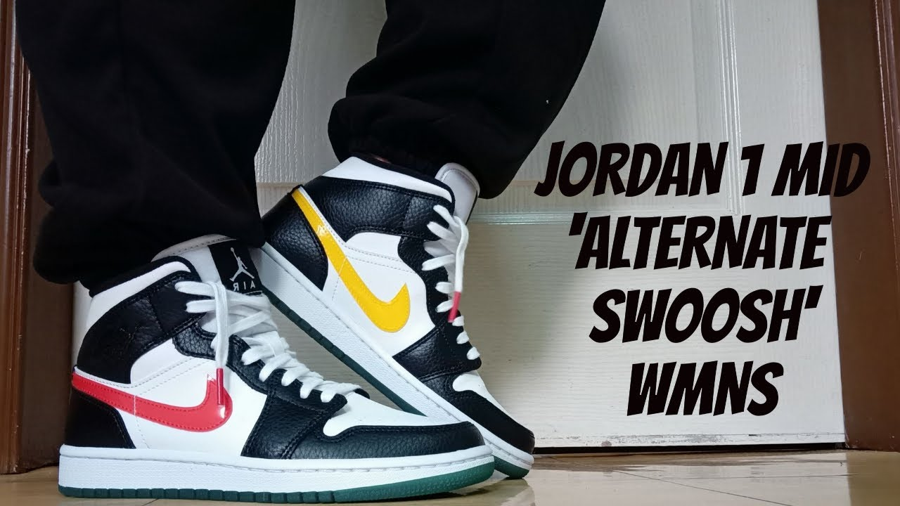 NIKE AIR JORDAN 1 MID 'ALTERNATE SWOOSH' WMNS | UNBOXING & REVIEW | PHILIPPINES | ENG CC