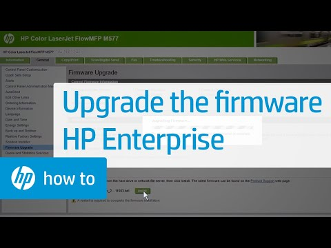 Upgrading The Firmware On HP Enterprise Printers | HP Printers | HP