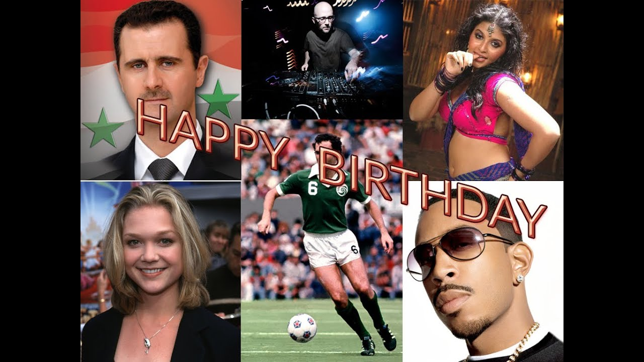 Celebrity Birthdays September 1, 2014 - YouTube