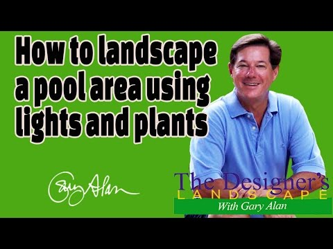 How to landscape a pool area with lights and plants Designers Landscape#708