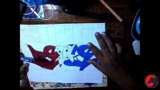How to draw name Belize in graffiti