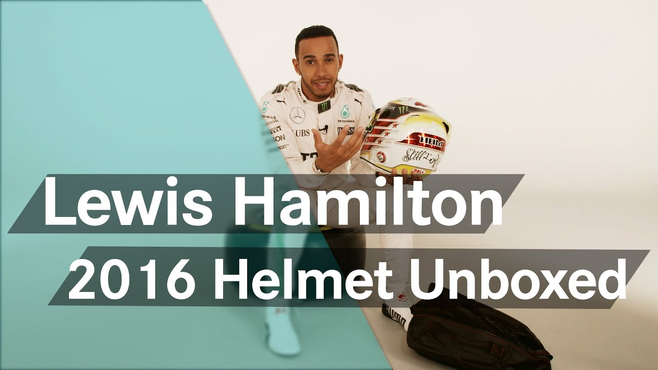 40ad9e349cc Unboxing F1  Lewis Hamilton s new 2016 helmet - YouTube