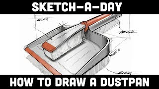 Sketch-A-Day: How to sketch a Dustpan