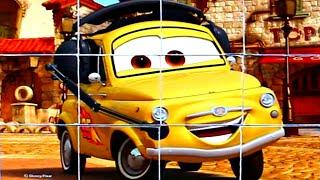 Тачки 3 - собираем кубики пазлы для детей с героями мультика Молния Маквин - Lightning McQueen