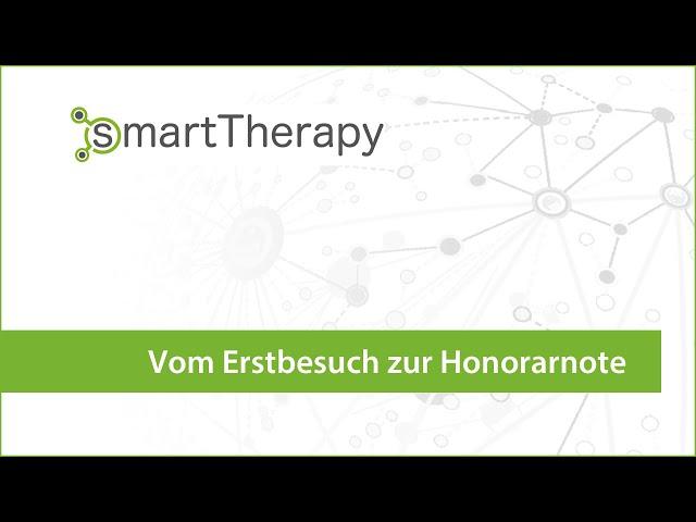 smartTherapy: Von der Patientenanlage bis zur Honorarnote