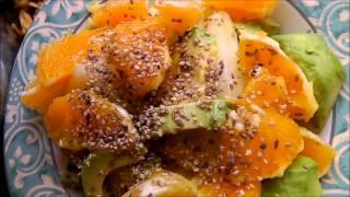 Салат из Дыни,Авокадо,Апельсинов