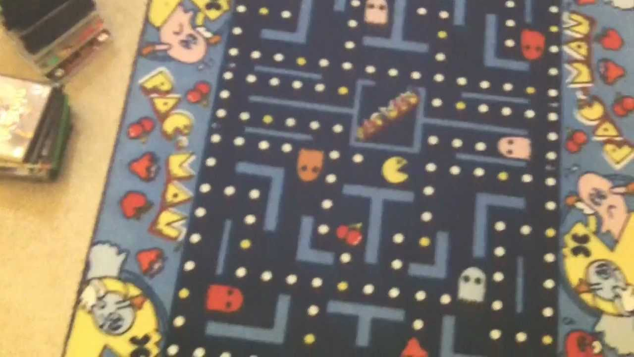 The Pac Man Rug Avgn Room Rug Youtube
