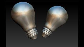 Zbrush 4R7 как сделать лампочку Ильича