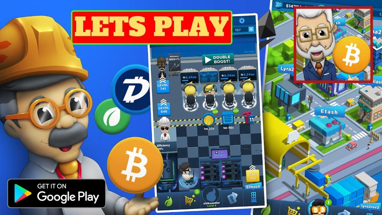bitcoin mining play game