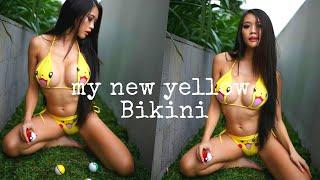 my new yellow bikini.
