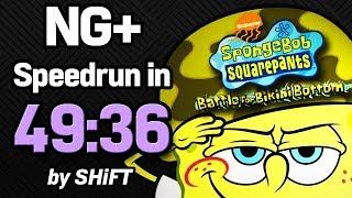 SpongeBob SquarePants: Battle for Bikini Bottom NG+ Speedrun in 49:36 (WR on 3/2/2018)