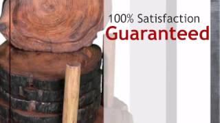 Teak Wood Coasters - Set Of 6 - Lonestarwesterndecor.com