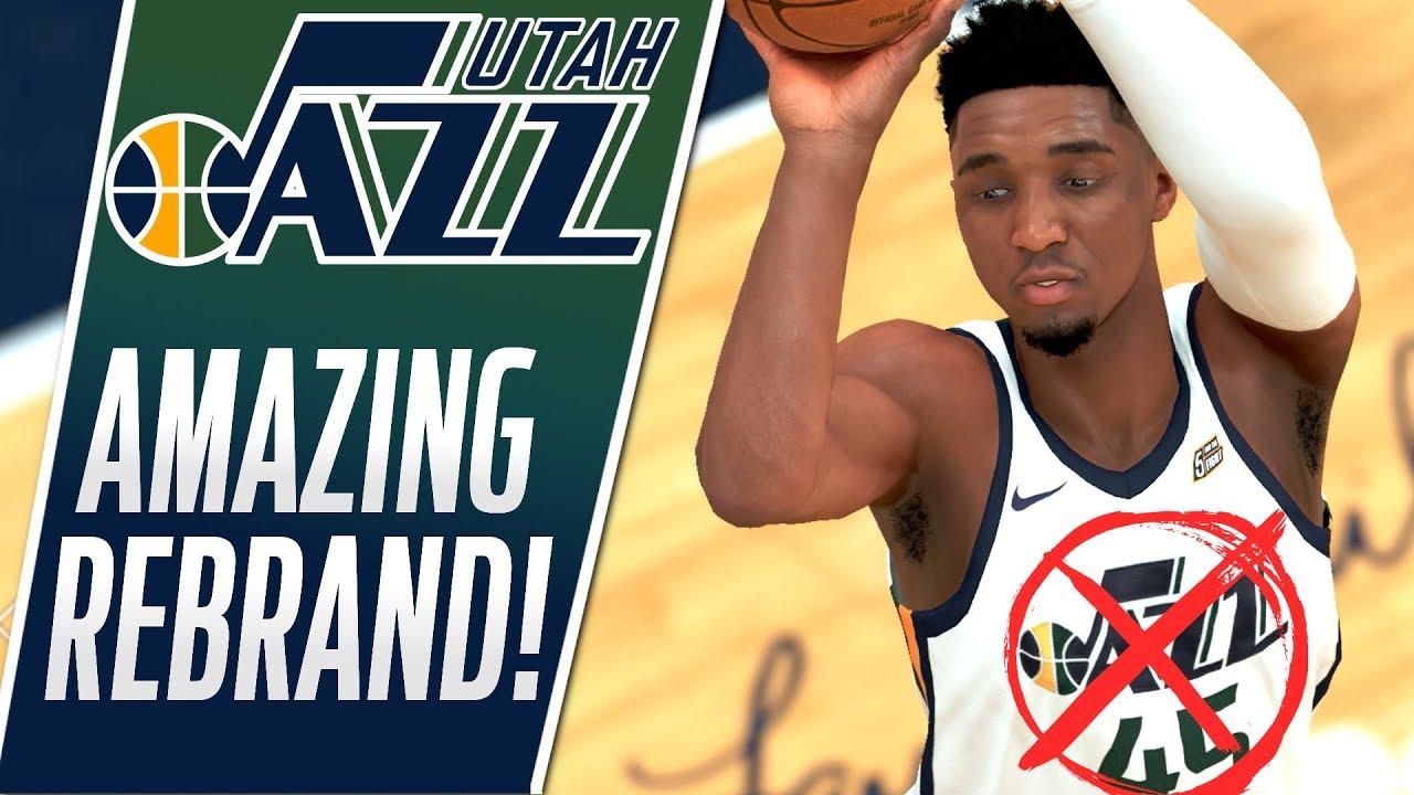 AMAZING UTAH JAZZ REBRAND! (New Franchise Name and Uniforms)   NBA 2K19  MyLEAGUE Ep  1 by Kingslayer Hoops