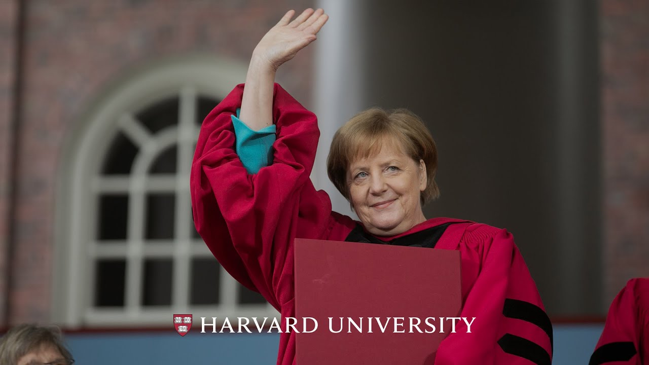 German Chancellor Angela Merkel S Address Harvard Commencement 2019 Youtube