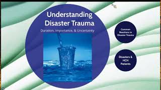 Spring Virtual Training 2018: Aftermath of Disaster-Addressing Trauma with Mental Health First Aid